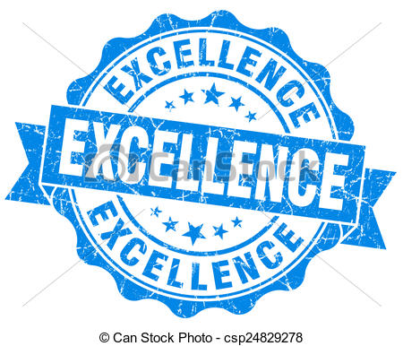 Stock Illustrations Of Excellence Blue Grunge Seal Isolated On White