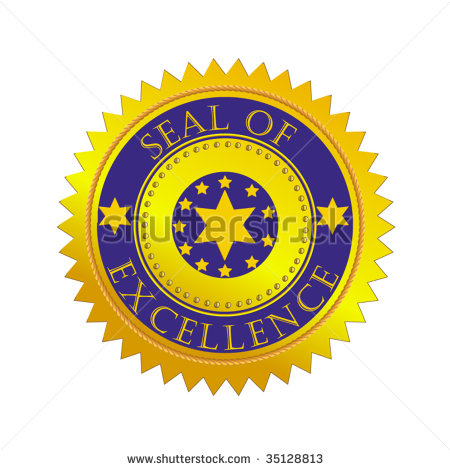 Stock Vector Vector Gold Seal Of Excellence 35128813 Jpg