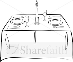 Food Table Clipart - Clipart Kid