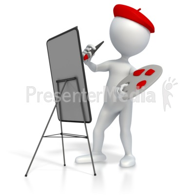 Artist Painting   Home And Lifestyle   Great Clipart For Presentations