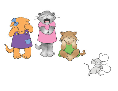 3 Little Kittens Clipart - Clipart Kid
