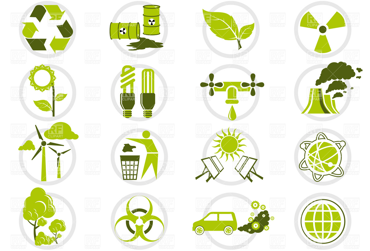 Energy Saving And Environmental Protection Icon Set 4684 Icons And