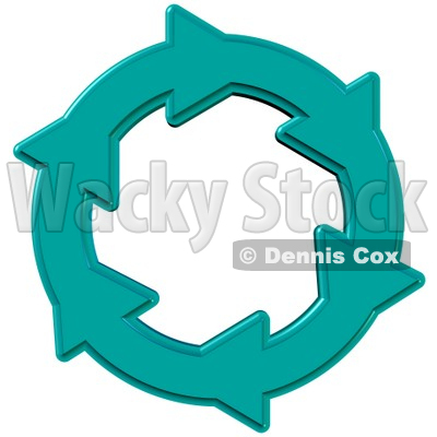 Environmental Clipart Illustration Image Of A Blue Circle Of Water