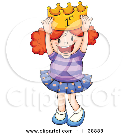 Free  Rf  Clip Art Illustration Of A Miss America Pageant Winner