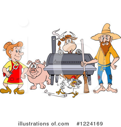Hillbilly Clipart  1224169   Illustration By Lafftoon