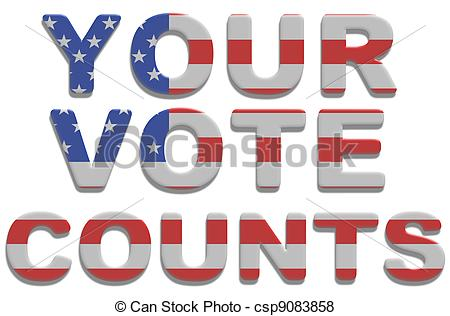 Illustration Of Your Vote Counts   Illustrated Text Saying Vote Counts