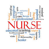 Nurse Word Cloud Concept   Royalty Free Clip Art