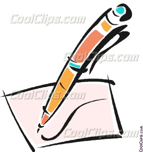 Pen And Paper Writing Clipart Pen Writing On A Piece Of