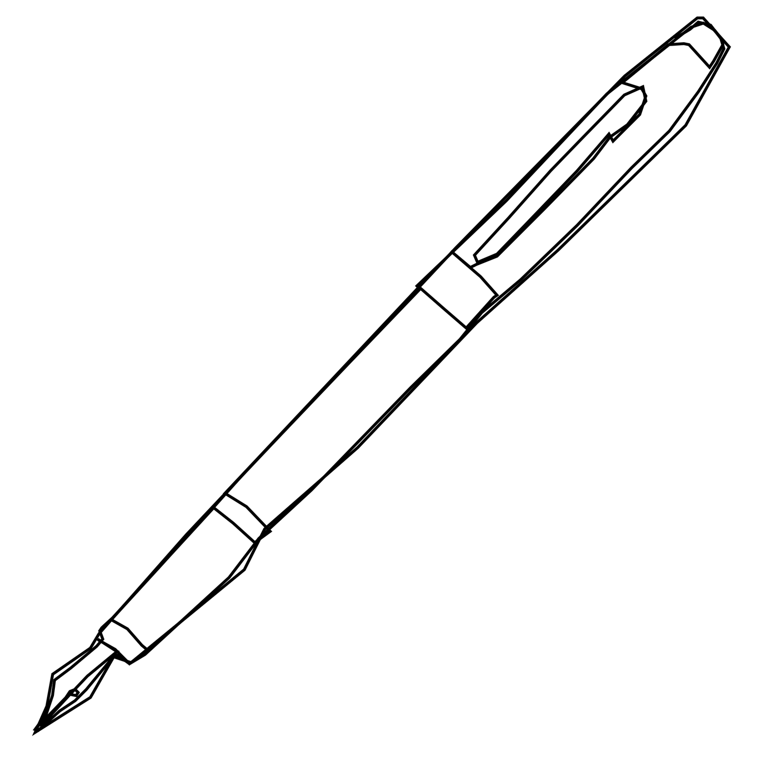 Pen Black And White Clipart   Clipart Panda   Free Clipart Images