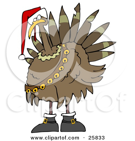 Royalty Free  Rf  Christmas Turkey Clipart Illustrations Vector