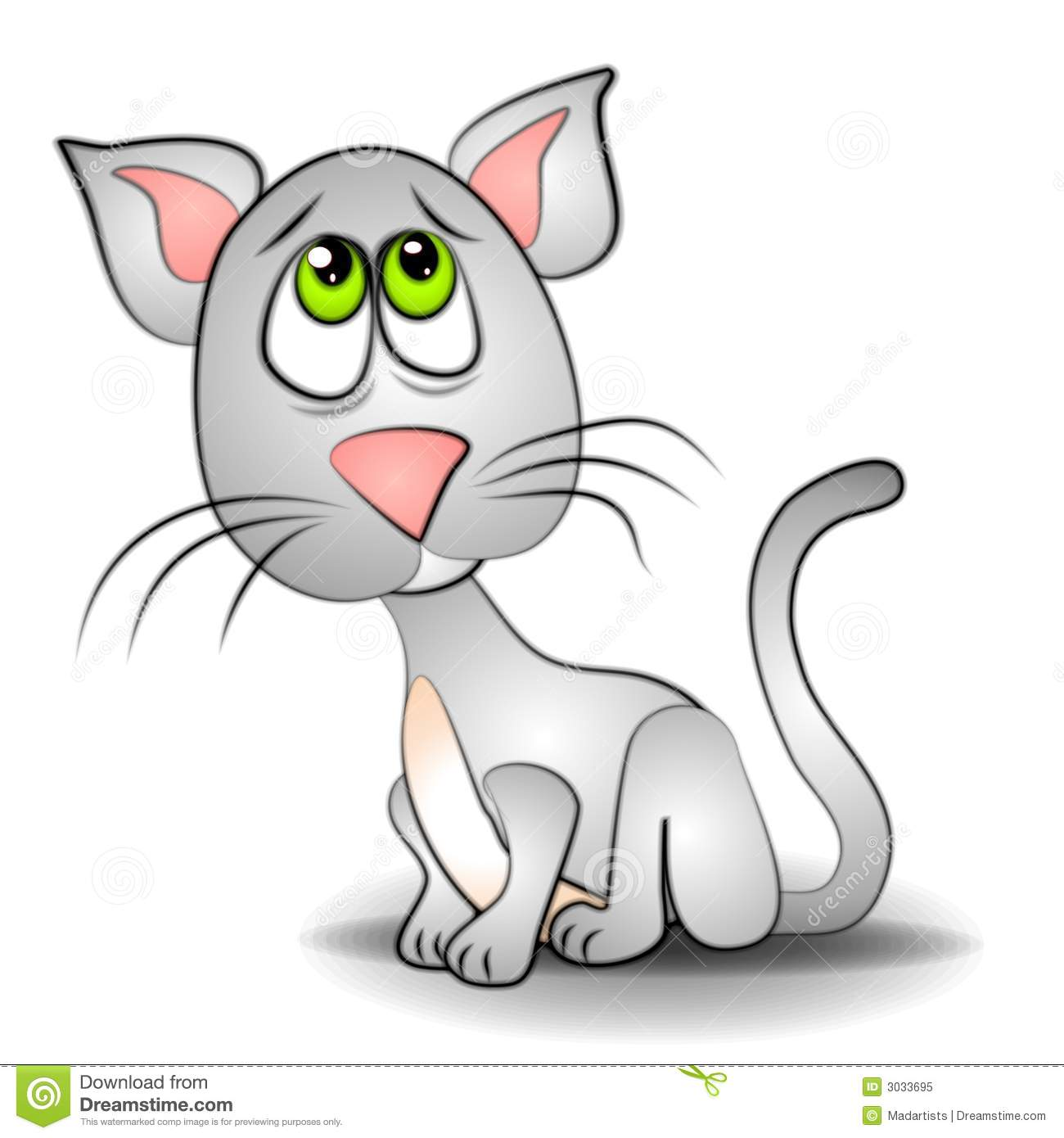 Sad Eyes Cat Kitten Clip Art Royalty Free Stock Photo   Image  3033695