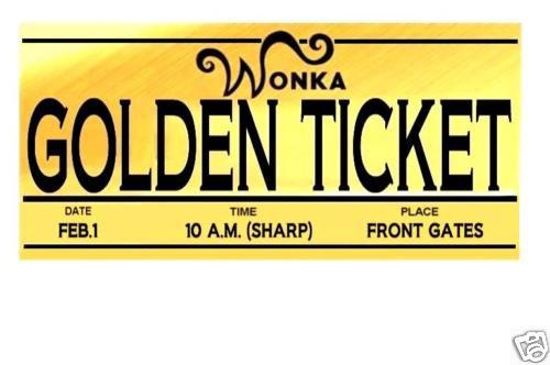 Golden Ticket Clipart - Clipart Kid