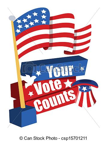 With Usa Flag   Your Vote Counts      Csp15701211   Search Clipart