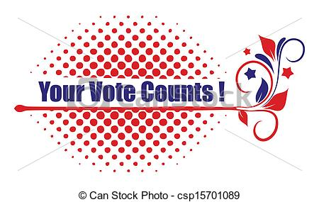 Your Vote Counts Clipart Vector   Your Vote Counts