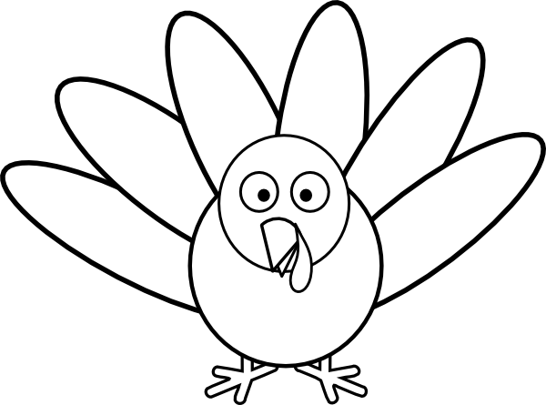 Turkey template clipart clipart suggest for Turkey body outline