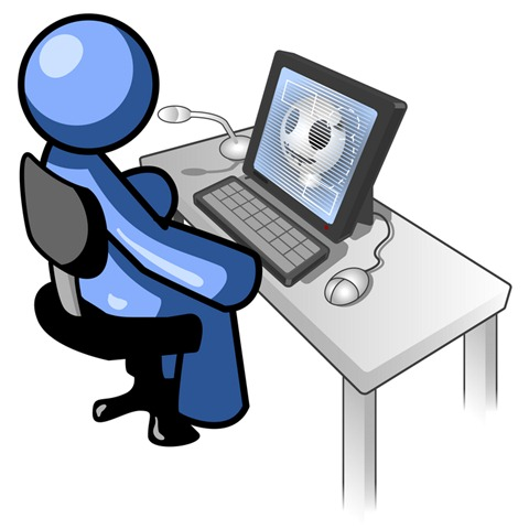 Computer User Clipart Free