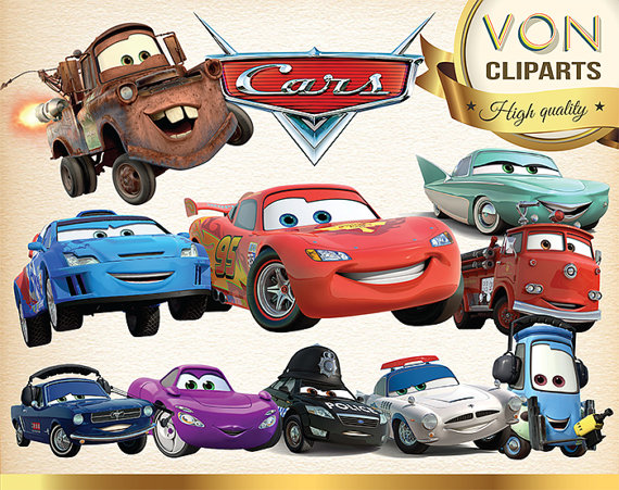30 Disney Cars Clipart Png Digital Graphic Image Cars Scrapbooking