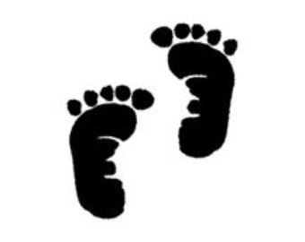 Clip Art Baby Footprints Clipart baby footprints black and white clipart kid footprint in white