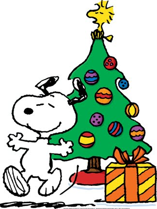 Christmas Snoopy And Woodstock Christmas Tree Decoration With Baubles