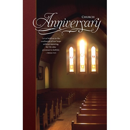 Church Anniversary   Regular Size Bulletins   50 Pak   Christian