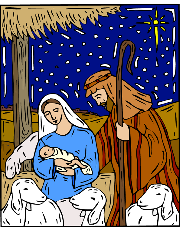 Drawing Of Mary And Joseph And The Baby Jesus