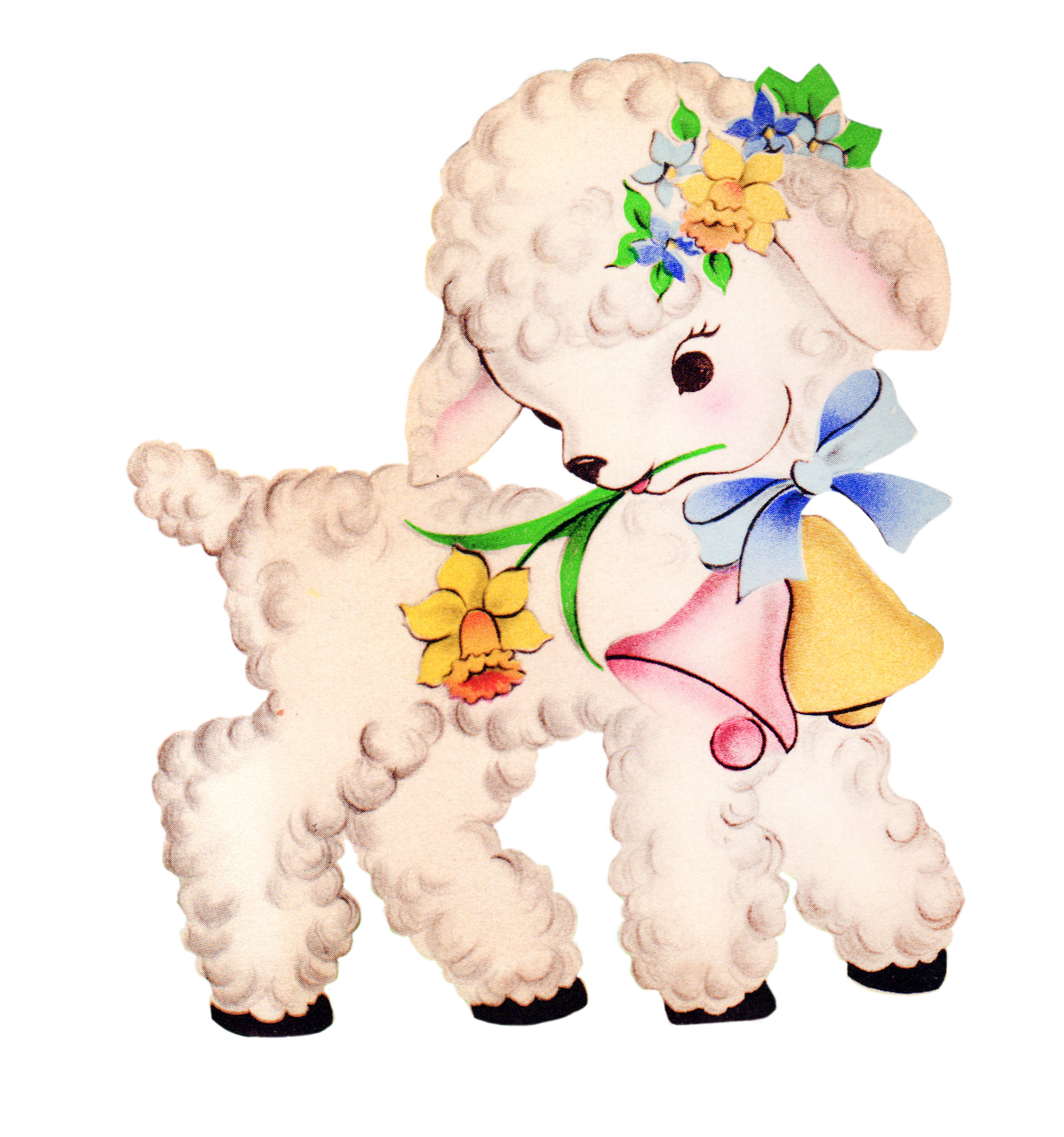 Free Vintage Baby Lamb Clipart   Free Pretty Things For You