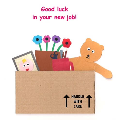 Good Luck In Your New Job   Greetings Card   Folksy