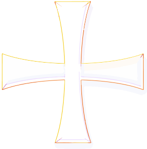 Holy Greek Color Cross Clipart