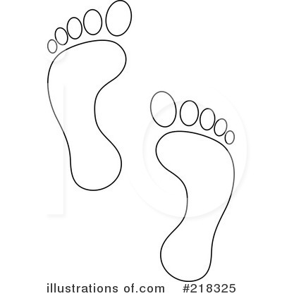 7 cartoon footsteps images