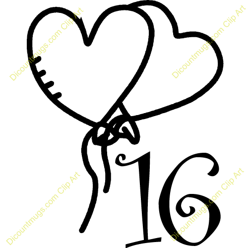 Clip Art Number 16 Clipart - Clipart Kid