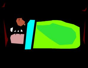 Clip Art of Someone Sleeping