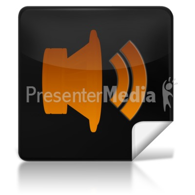 Sound Square Icon Presentation Clipart
