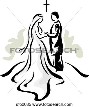 Stock Illustration   Couple At Altar  Fotosearch   Search Clipart