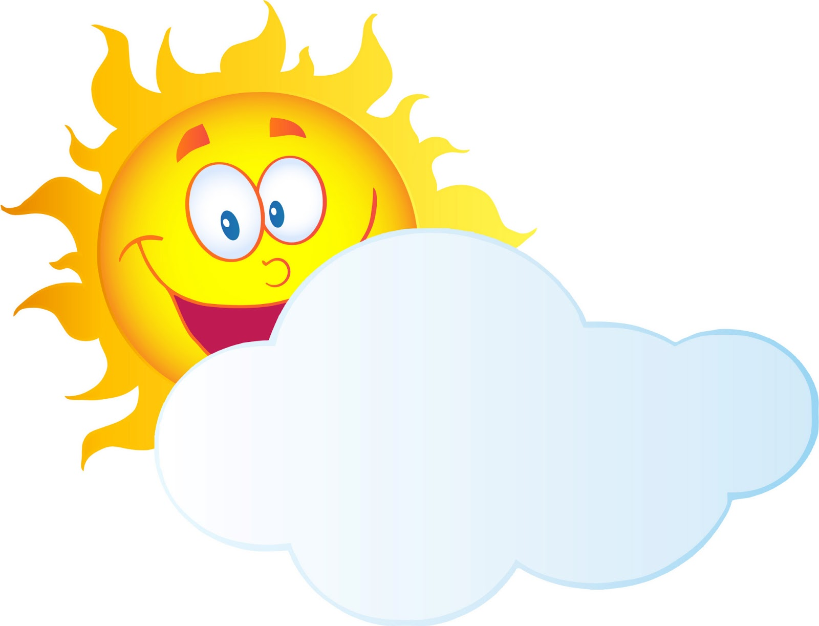 Sun And Cloud Clipart - Clipart Kid
