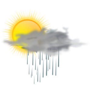 Sun And Rain Cloud Clip Art At Clker Com   Vector Clip Art Online