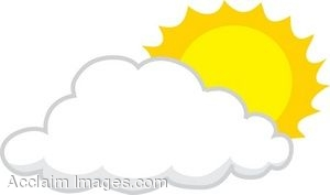 Sun Behind A Cloud Clip Art