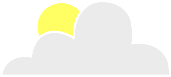 Sun Behind Cloud Clipart Vector Clip Art Online Royalty Free Design