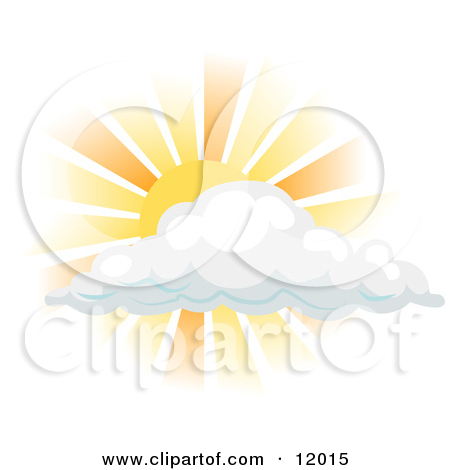 Sun Shining Behind A Cloud Clipart Illustration By Atstockillustration