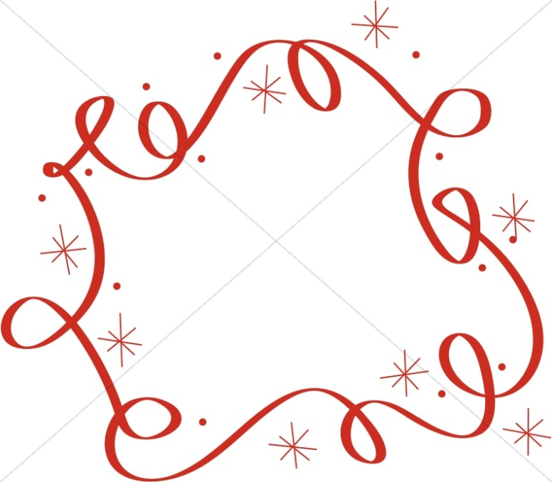 Swirls And Stars Border Religious Christmas Clipart #ONyECV ...