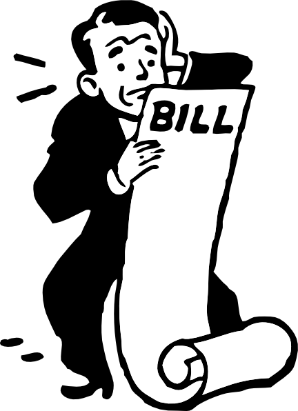 Worried About A Bill Clip Art At Clker Com   Vector Clip Art Online