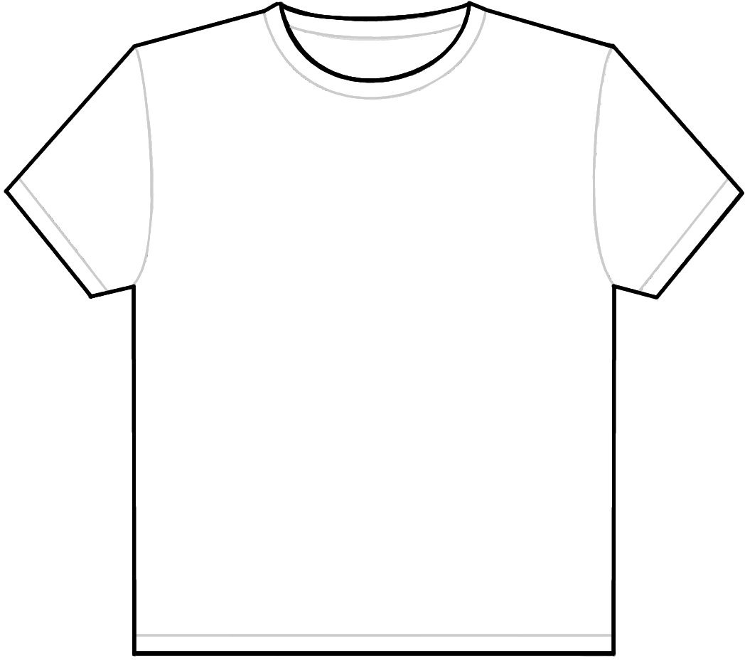 T Shirt Outline Clipart Clipart Suggest