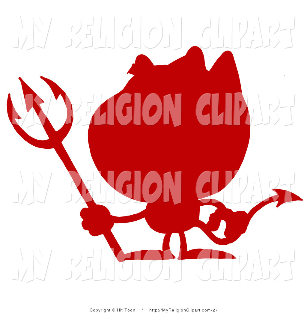 2012 Red Devil Silhouette January 20th 2012 Outlined Grinning Devil