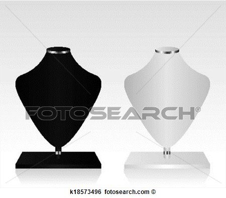 Art   Black And White Mannequin Jewelry   Fotosearch   Search Clipart