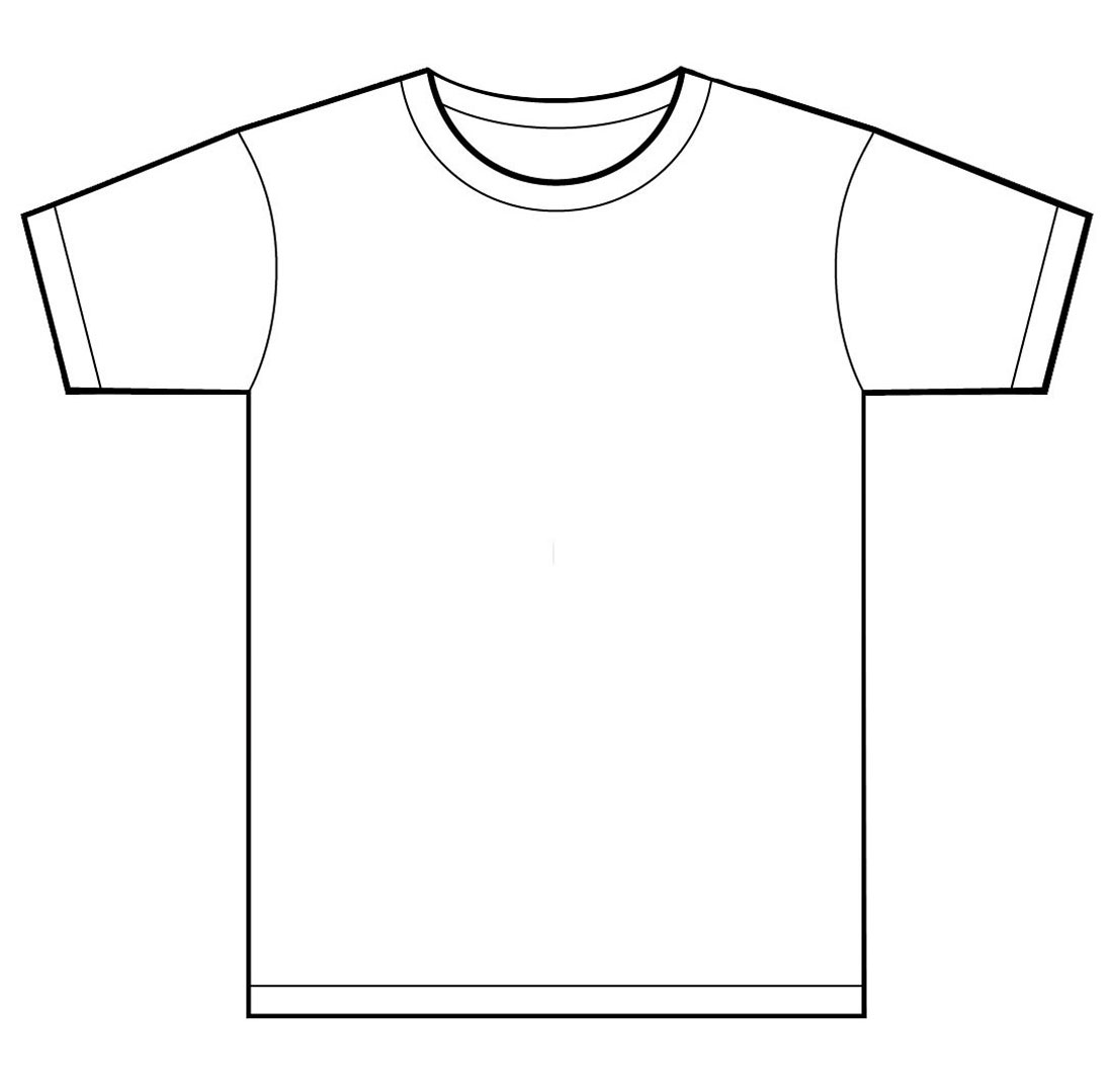 T-shirt Template Clipart - Clipart Kid