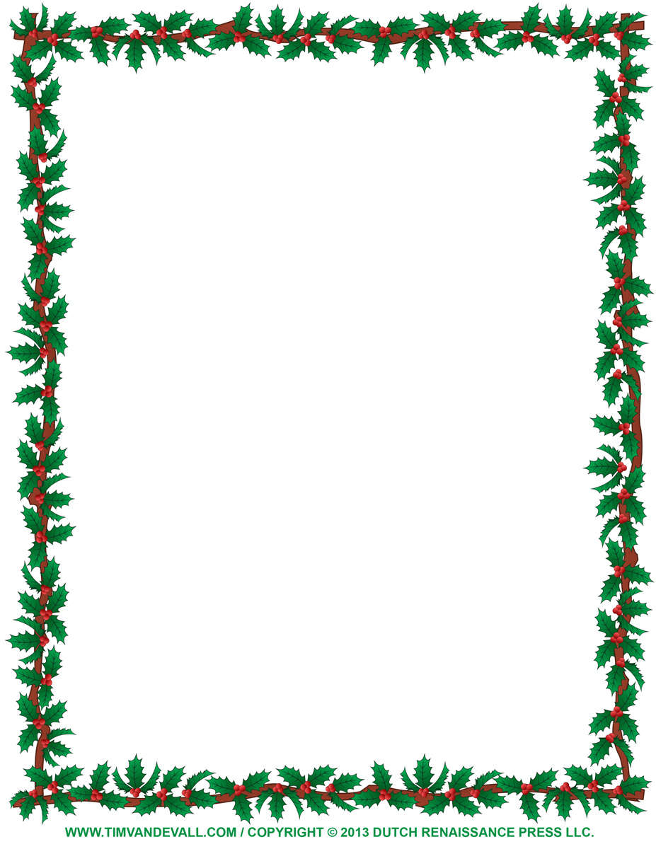 Christmas Clip Art Borders For Word Documents   Clipart Panda   Free