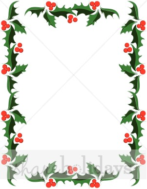 Christmas Holly Pencil Drawing Clipart Decorative Holly Stamp Clipart