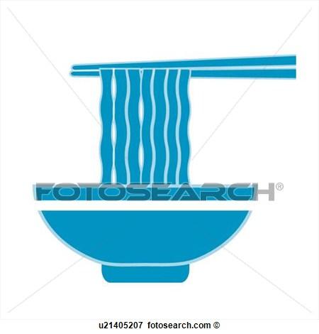 Clip Art Of Bowl Icons Noodles Wheat Noodles Instant Noodle Bowls