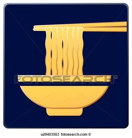 Clipart Of Bowl Icons Noodles Wheat Noodles Instant Noodle Bowls
