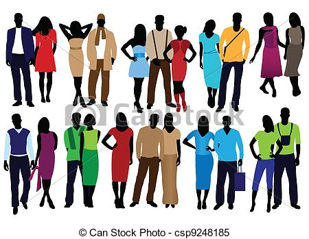 Clipart Vector Of Men And Women Fashion   Set Of Fashion People