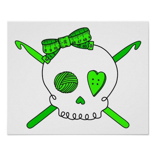 Crochet Hook And Yarn Clip Art This Skull   Crochet Hook